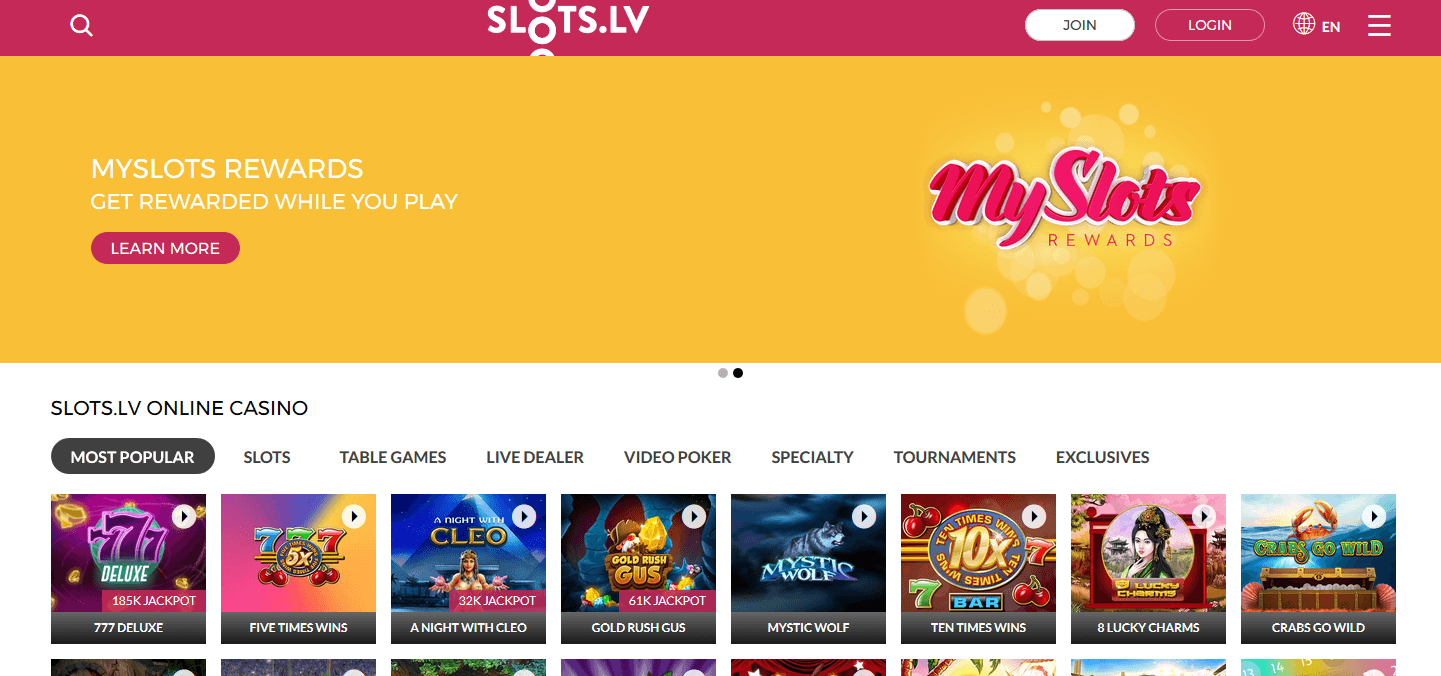 Slots.LV - Canadian Casino With Best Bonuses
